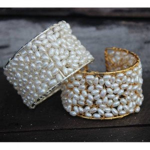 weddingpearl-cuff-bracelet-bridal-white-on-silver
