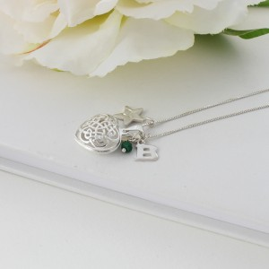 celtic heart locket - may with emerald (5)