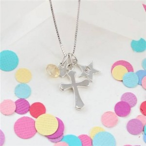 childs-personalised-silver-cross-necklace-with-birthstone-charm