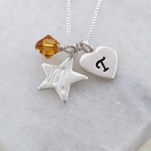 personalised-zodiac-with-crystal-birthstone-charm-necklace