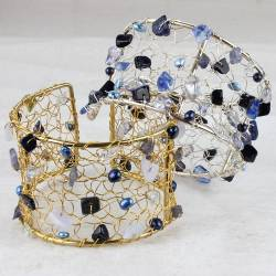 silver-or-gold-frame-crochet-cuff-shades-of-blue