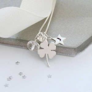 personalised-silver-4-leaf-clover-necklace-with-birthstones