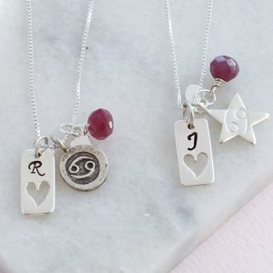 Personalised Cancer star sign necklace