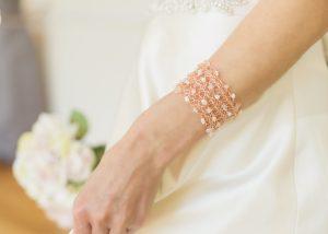 A delicate cuff bracelet for a bride